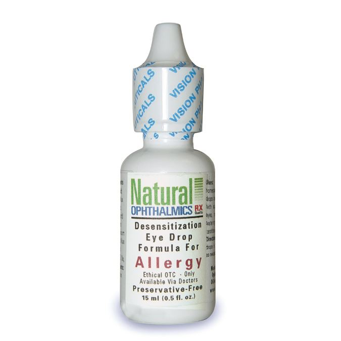 Homeopathic allergy eye drops