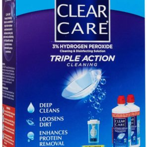 Clear Care 12oz Twin Pack 3% Hydrogen Peroxide Cleaner
