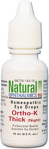 Natural Ophthalmics Ortho K Thick (Night)